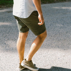 The Camp Short in Washed Olive Drab Herringbone: Alternate Image 6