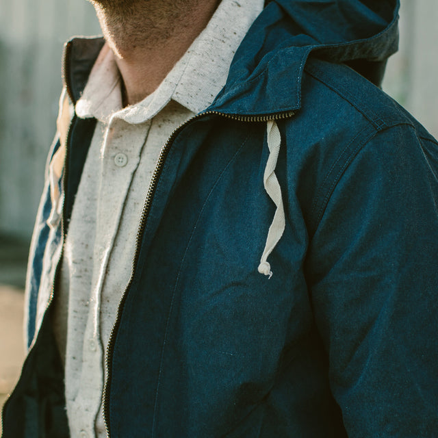 The Beach Jacket in Indigo Chambray