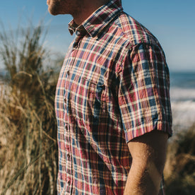 The Short Sleeve California in Red Madras: Alternate Image 3