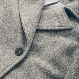 The Mariner Peacoat in Ash Donegal Lambswool: Alternate Image 6