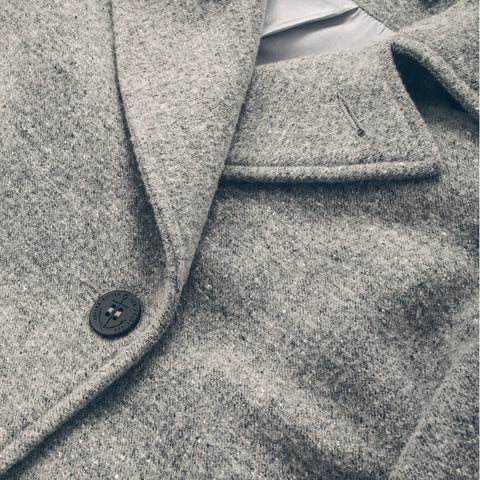 The Mariner Peacoat in Ash Donegal Lambswool - alternate view