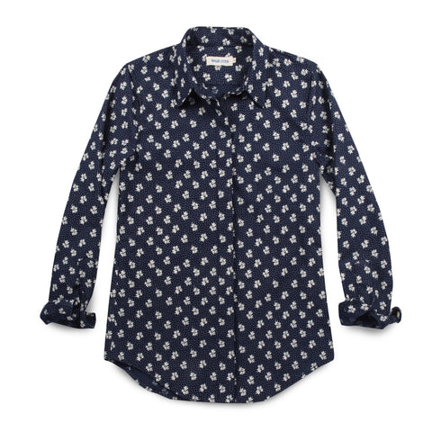 The Michelle Shirt in Indigo Print - featured image