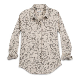 The Michelle Shirt in Maze Print: Featured Image