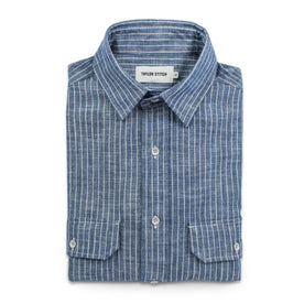 The Chore Shirt in Indigo Striped Chambray: Featured Image