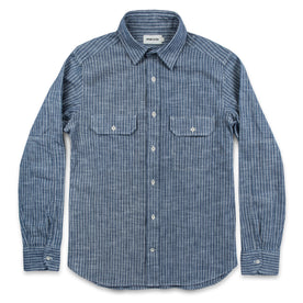 The Chore Shirt in Indigo Striped Chambray: Alternate Image 6