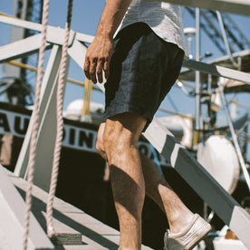 Our fit model on his boat in the San Francisco Bay