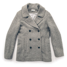 The Mariner Peacoat in Ash Donegal Lambswool: Featured Image