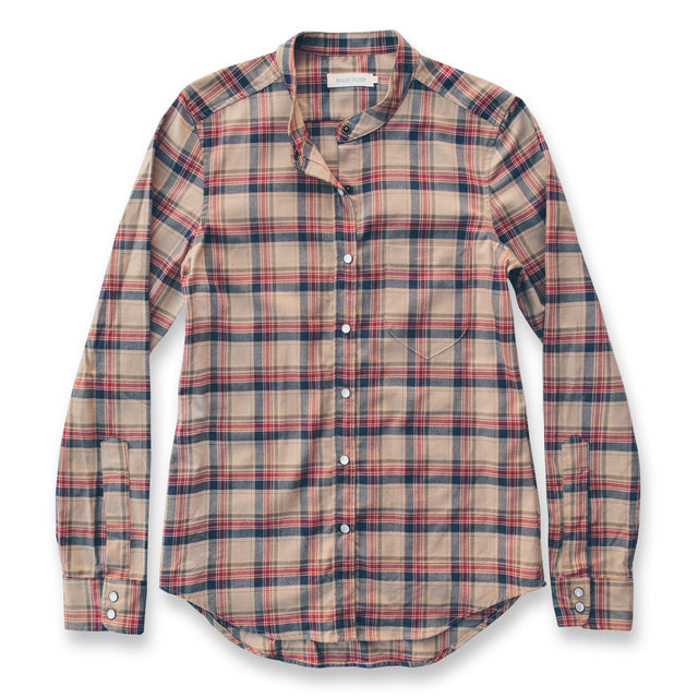 The Piper Shirt in Tan Plaid