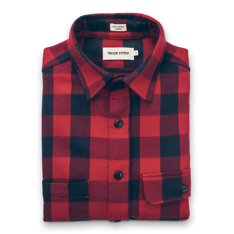 The Moto Utility Shirt in Red Buffalo Plaid - featured image