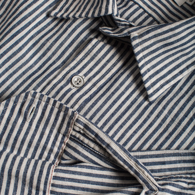 The Chore Shirt in Natural Striped Chambray
