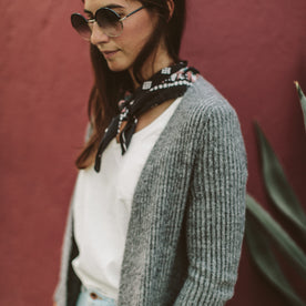 The Frida Cardigan in Charcoal: Alternate Image 3
