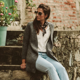 The Frida Cardigan in Charcoal: Alternate Image 1