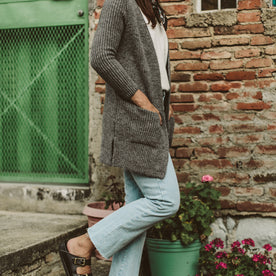 The Frida Cardigan in Charcoal: Alternate Image 4