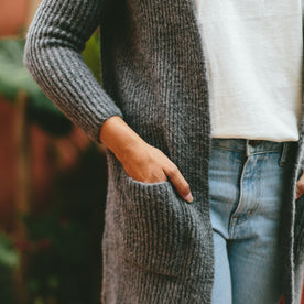The Frida Cardigan in Charcoal: Alternate Image 5