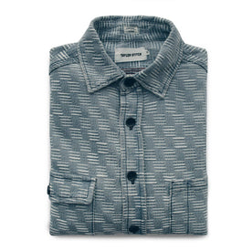 The Utility Shirt in Washed Indigo Jacquard: Featured Image