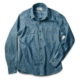 The Utility Shirt in Sea Washed Chambray: Alternate Image 2