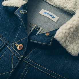 The Pacific Jacket in Sea Washed Selvage Denim: Alternate Image 6