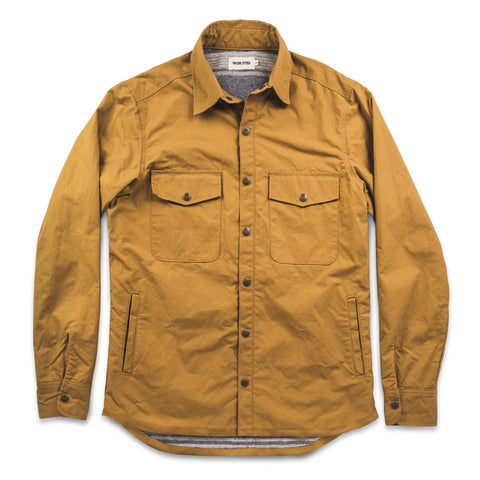 The Chore Jacket in Mustard Dry Wax Canvas - featured image