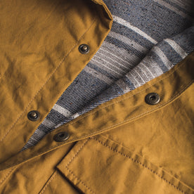 The Chore Jacket in Mustard Dry Wax Canvas: Alternate Image 7