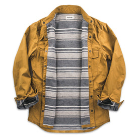 The Chore Jacket in Mustard Dry Wax Canvas: Alternate Image 2