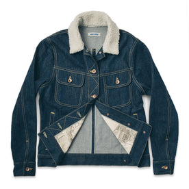 The Pacific Jacket in Sea Washed Selvage Denim: Alternate Image 7