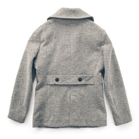 The Mariner Peacoat in Ash Donegal Lambswool: Alternate Image 7