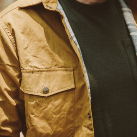 The Chore Jacket in Mustard Dry Wax Canvas: Alternate Image 4