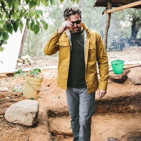 The Chore Jacket in Mustard Dry Wax Canvas: Alternate Image 6