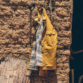 The Chore Jacket in Mustard Dry Wax Canvas: Alternate Image 8