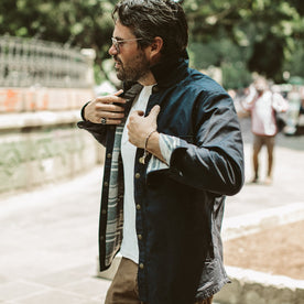 The Chore Jacket in Navy Dry Wax Canvas: Alternate Image 6
