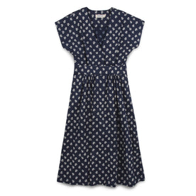 The Emma Dress in Indigo Print: Featured Image