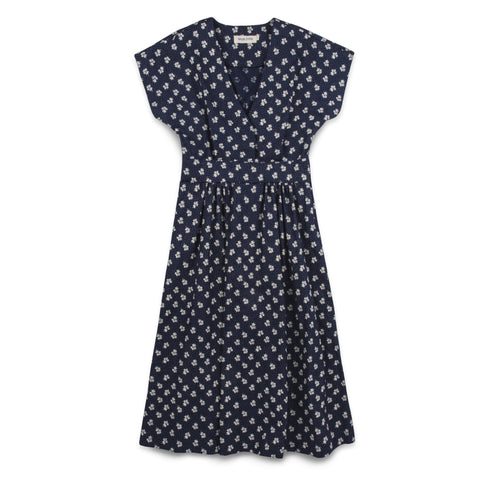 The Emma Dress in Indigo Print - featured image