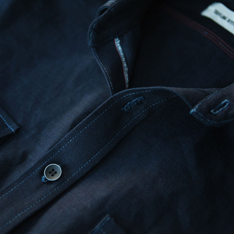 The Utility Shirt in Cone Mills Indigo Selvage Canvas - alternate view