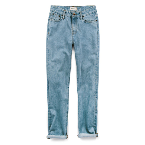 The Rosie Jean in Washed Cone Mills Denim - featured image