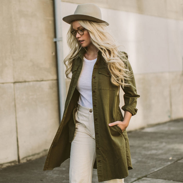 The Trench Dress in Army Green