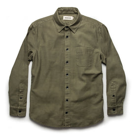 The Mechanic Shirt in Olive Reverse Sateen: Alternate Image 8