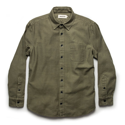The Mechanic Shirt in Olive Reverse Sateen: Alternate Image 7