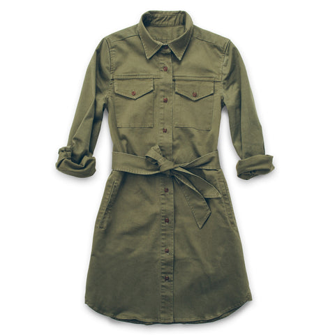 The Trench Dress in Army Green - featured image