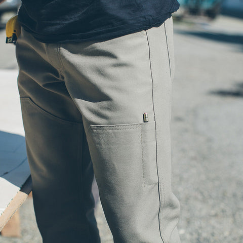The Chore Pant in Ash - alternate view