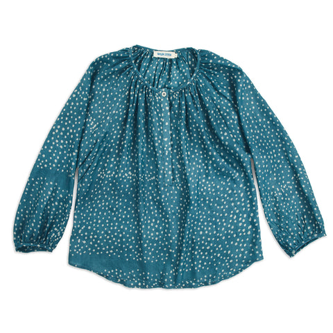 The Orinda Blouse in Dotted Silk Batik - featured image