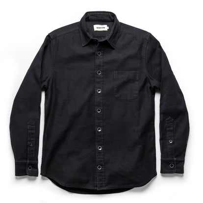 The Mechanic Shirt in Black Reverse Sateen: Alternate Image 8