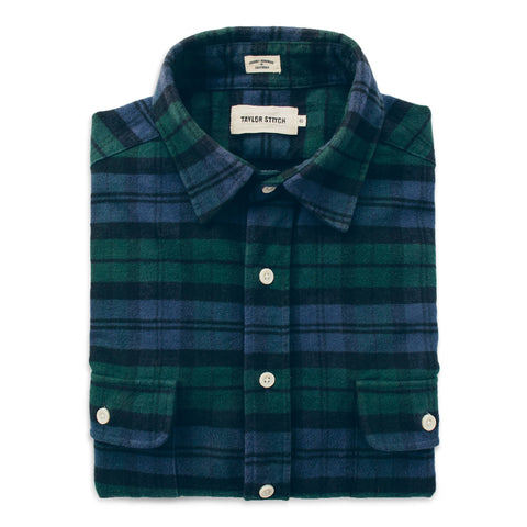 The Yosemite Shirt in Blackwatch Plaid - featured image