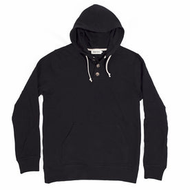 The Charcoal 3 Button Hooded Sweatshirt: Featured Image