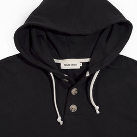 The Charcoal 3 Button Hooded Sweatshirt: Alternate Image 5
