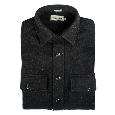 The Maritime Shirt Jacket in Charcoal Donegal Wool - featured image