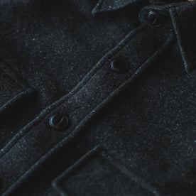 The Maritime Shirt Jacket in Charcoal Donegal Wool: Alternate Image 1