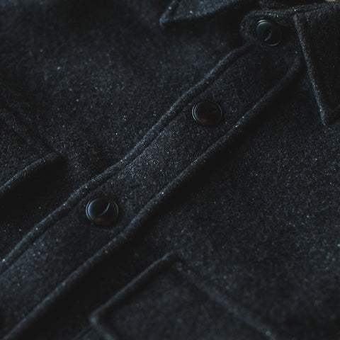 The Maritime Shirt Jacket in Charcoal Donegal Wool - alternate view