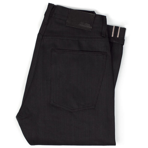14.75 Oz. Shuttle Loomed Italian Selvage Black Denim - Democratic Fit - featured image