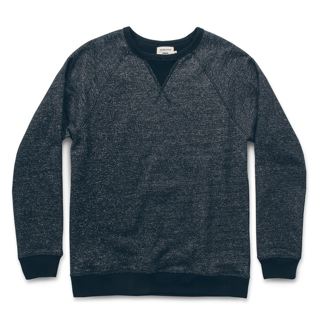 The Crew in Charcoal Fleck Fleece