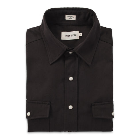 The Glacier Shirt in Sea Washed Black Twill - featured image